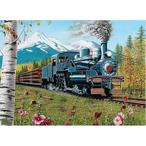 CBL80169 - Cobblehill Puzzles 1000 pc - Lumbering Along