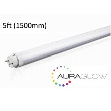 Auraglow Energy Saving 24w 5ft 1500mm Cool White, 6500k, 2400lm, T8 Fluorescent LED Tube Light, 58w EQV