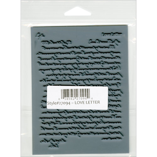 "Lisa Pavelka Individual Texture Stamp 4.25""X5.5""-Love Letter"