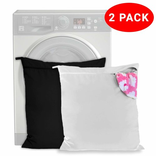 2 Pack Pet Laundry Bags - Keep Your Washing Machine Free from Hair! - Zip up & Loop Handle for Dogs, Cats and Horses - Ideal for Towels, Blankets,...