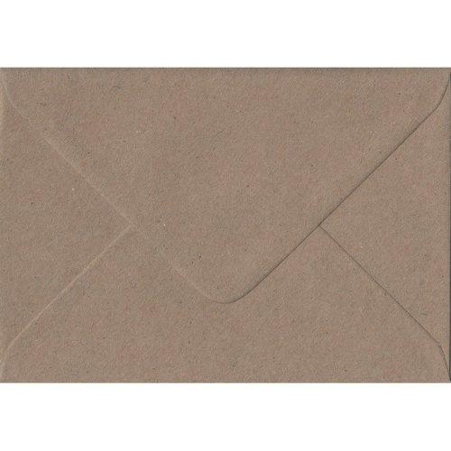 """Fleck Kraft Gummed 5""""x7"""" Coloured Brown Envelopes. 110gsm FSC Sustainable Paper. 133mm x 184mm. Banker Style Envelope."""