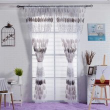2PCS Gauze Curtain Screens Bedroom Living Room Window