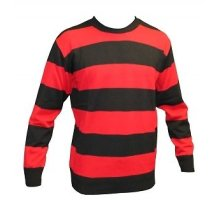 Black And Red Striped Jumper