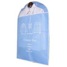 Set of 5 Storage Garment Shoulder Covers Suit Dust Covers Hanging Coat Pockets 60x90CM(Blue)