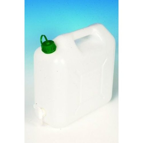 15Ltr White Watercan Storage With Tap And Handle Plastic