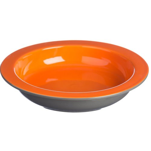 Mason Cash Hacienda Chip Resistant Earthenware 24cm Round Pie Dish, Ceramic, Orange/Grey, 5.5 x 26.4 x 26.4 cm