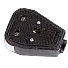 Defender 230v 13amp 1-Gang Black Rubber Sockets (Box of 10) E882921