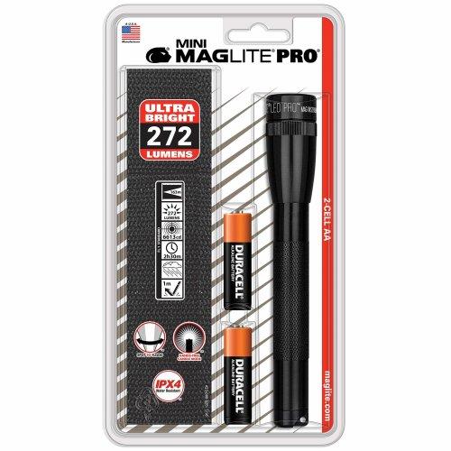 Maglite Mini AA LED Pro Black - 226 lumens - 140m beam - holster pack