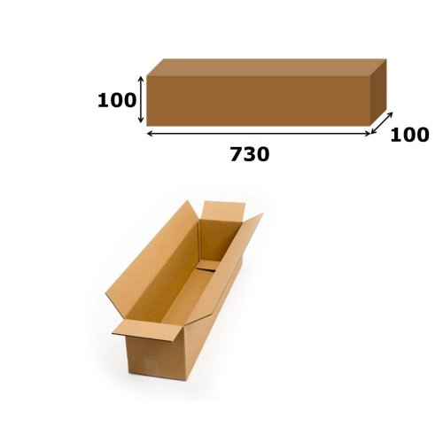 5x Postal Cardboard Box Long Mailing Shipping Carton 730x100x100mm Brown