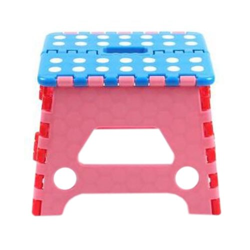 Creative Plastic Foldable Step Stool Portable Folding Stools Stepstool for Kids & Adults, No.4
