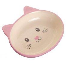 Porcelain Cat Face Pets Bowls Dogs Cats Bowls Pet Supplies Cat Accessories-Pink