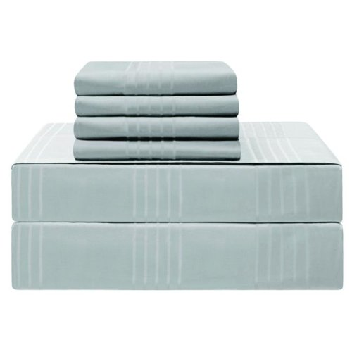 Jean Pierre YMS008222 Premium 420 Thread Count 100 Percent Cotton Sheet Set, Spa Blue - California King - 6 Piece