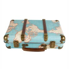 Around the World Vintage Map Decorative Suitcase