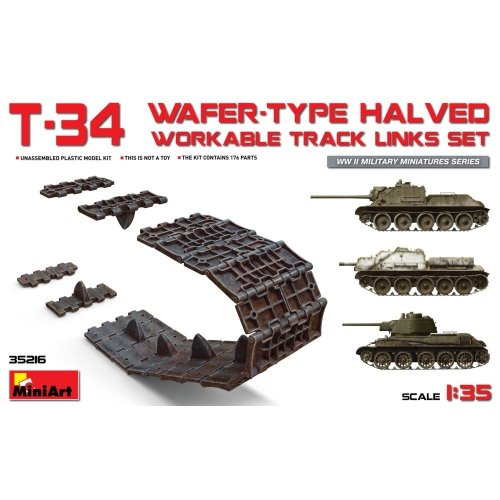 Min35216 - Miniart 1:35 - T-34 Wafer Type Halved Workable Track Links