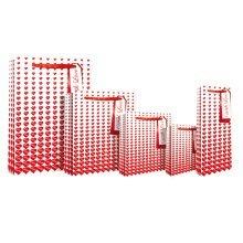 Eurowrap Embossed Heart Bags - XL -  eurowrap embossed heart bags xl