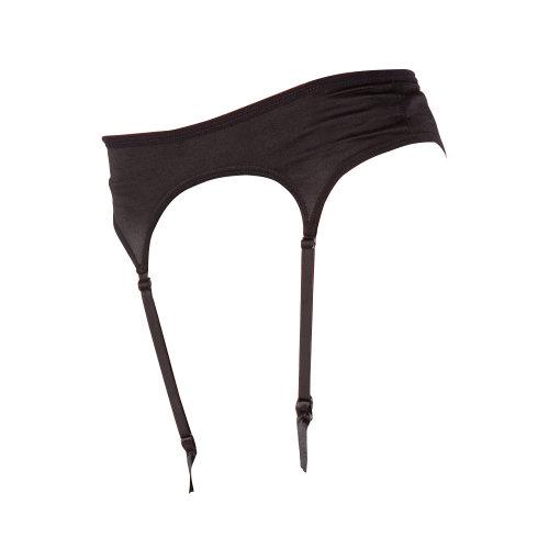 Silky Womens/Ladies Narrow Satin Black Suspender Belt  X-Large (UK Dress 16) (Black)