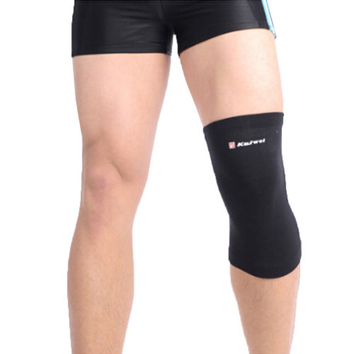 Set of 2 Men Women Sports Elastic Knee/Elbow  Pads Knee/Elbow Protector Black