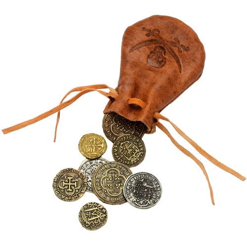 Hill Interiors Pirate Doubloons With Leather Bag on OnBuy