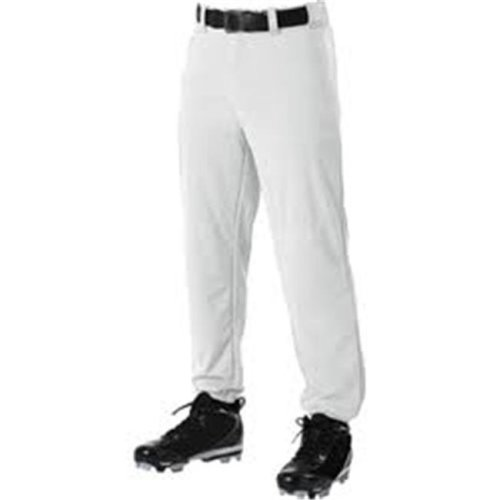 Alleson Athletic AA605PYWHTLRG Youth Baseball Pant, White - Large