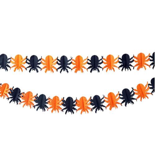 2PCS Halloween Spider Garland Creative House Party Decor 30CM