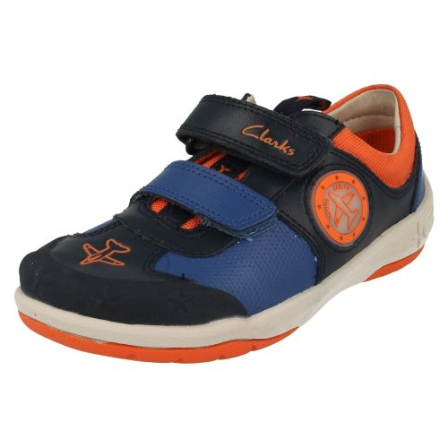 Boys Clarks Casual Shoes Jetsky Buzz - G Fit
