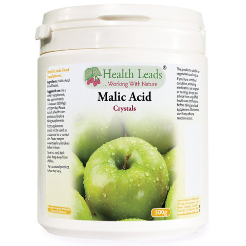 Malic Acid Powder (Food Grade) 500g (Home Brew/Wine Making)