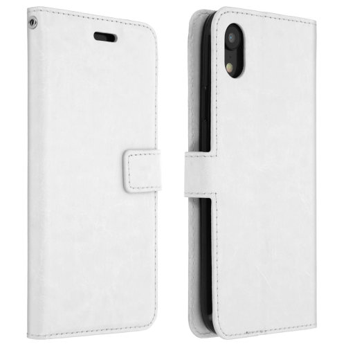 factory price 27b06 eaa59 Vintage Series flip shockproof wallet case for Apple iPhone XR - White