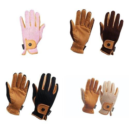 Dublin Unisex Crochet Leather Riding Gloves