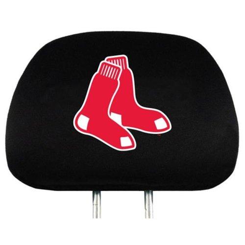 Team Promark HRML05 Headrest Covers -set of 2- Red Sox-HR- Black