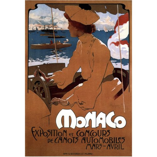 Advertising poster - Monaco - High definition printing on stainless steel plate