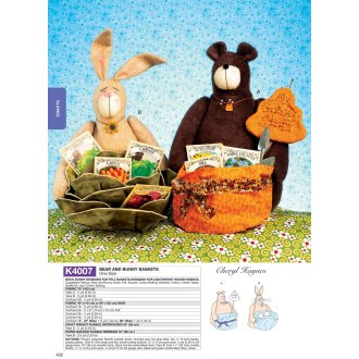 Bear and Bunny Baskets- -*SEWING PATTERN*
