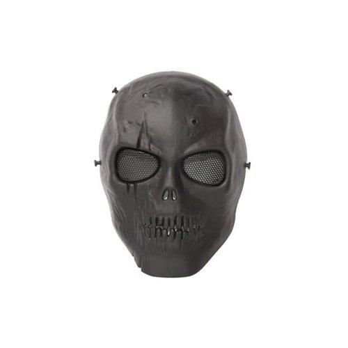 Aleko PBSSM19BK-UNB Skull Skeleton Protective Mask with Wire Mesh Goggles, Black