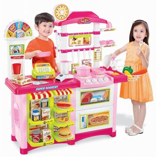 Vinsani Children's Pretend Play Kitchen Cooking Set - Pink