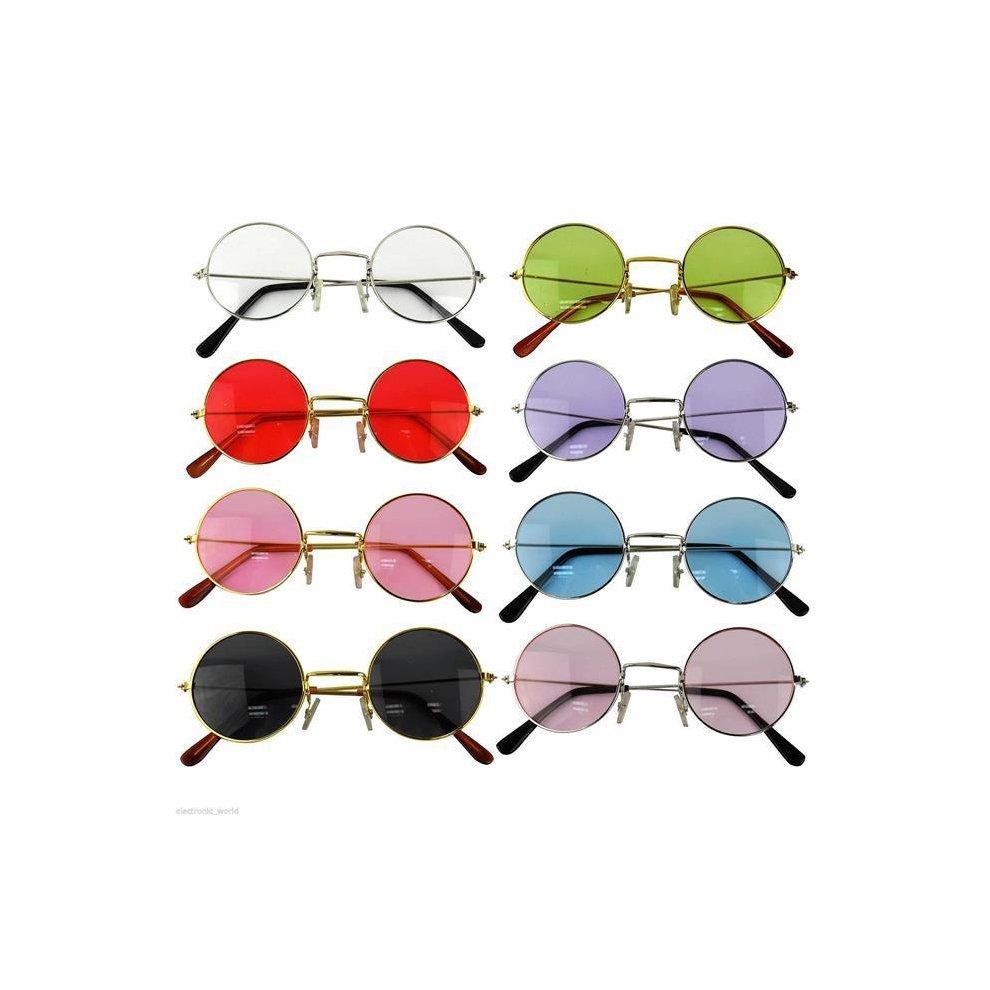 8cf027f834 John Lennon Style Sunglasses Ozzy Osbourne Hippy 80 s 70 s Fancy Dress  Glasses Bright ...