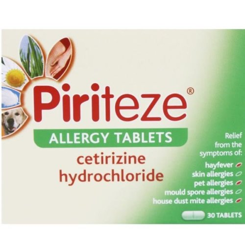 Piriteze Allergy One A Day 30 Tablets