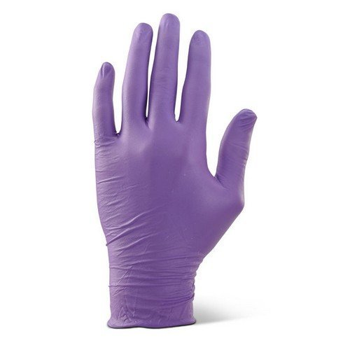 Click NDGPFPUL Nitrile Disposable Glove Powder Free Purp Large Box of 1000