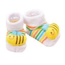 3 Pairs Non-slip Newborn Baby Boy Girls Toddler Socks Warm Non-skid Stockings Baby Gift For 6-12 Month Baby-A04