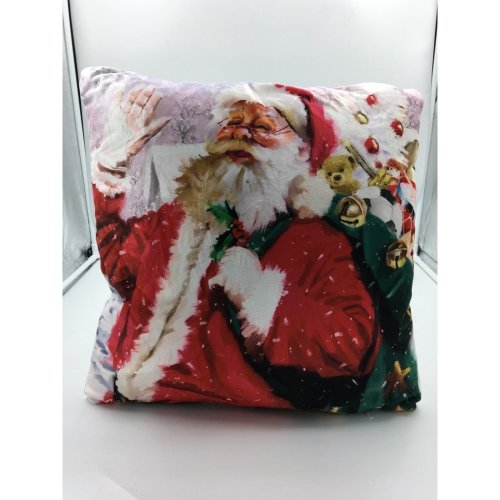 (Santa Sack) Xmas LED Lit Battery Powered Cushion Snow Village