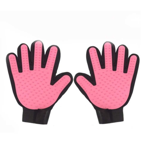 Pet Grooming Glove Pair  Five Finger Design Pet Glove Hair Removal
