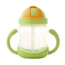 Leakproof Trainer Cup Silicon Sippy Cups BPA FREE ,green B
