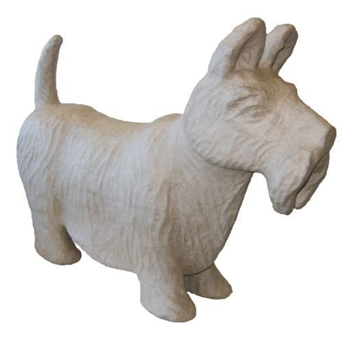 Large Paper / Papier Mache Scottie Dog - 47cm x 12cm x 34cm - Great For Decorating