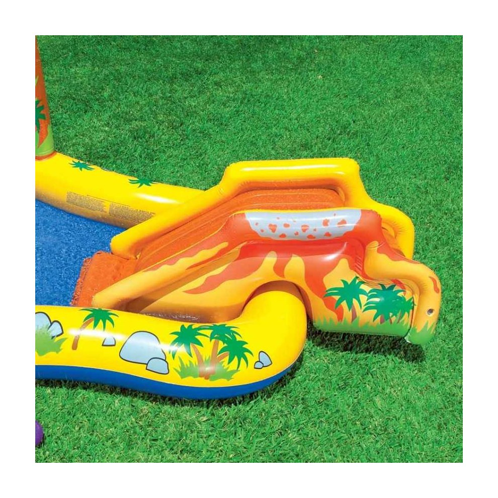Intex 57444 Dinosaur Play Center Paddling Inflatable Pool With Sprinkler 5