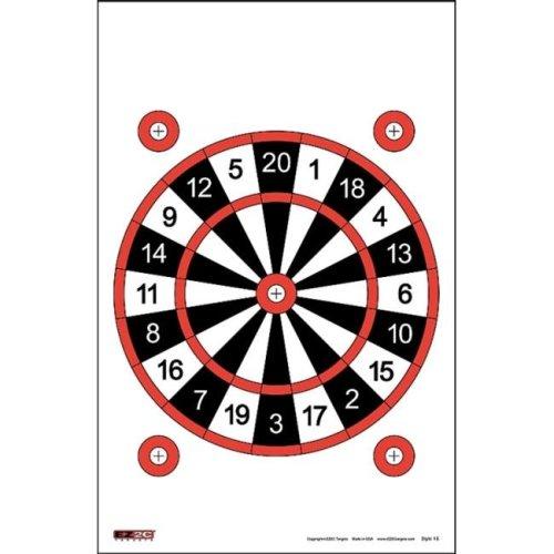 EZ2C Targets EZ2C015 Targets Style 15, Pack - 25
