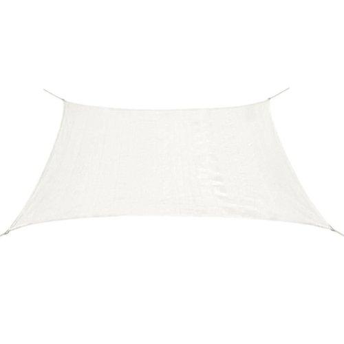 43014 vidaXL Sunshade Sail HDPE Square 2x2 m White