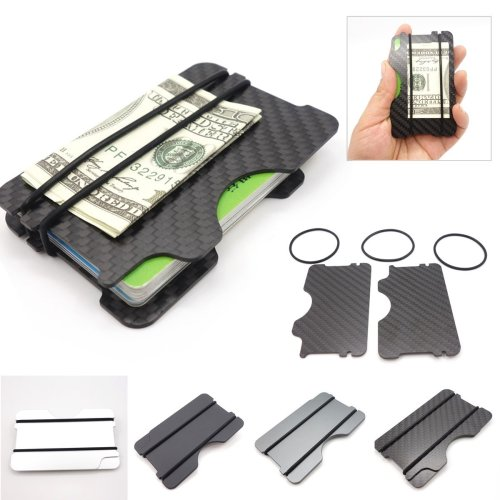 RFID Blocking Slim Aluminum Credit Card Holder Money Clip Men Minimalist Wallet