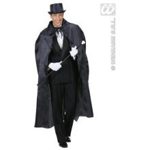 130cm Black Men's Cape - Halloween Dracula Vampire Fancy Dress Long Devil Prop -  black cape halloween dracula vampire fancy dress long 130cm devil