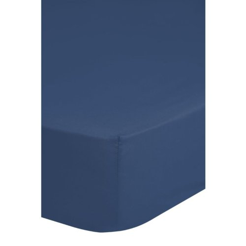 Emotion Non-iron Fitted Sheet 90x200 cm Blue 0220.24.42