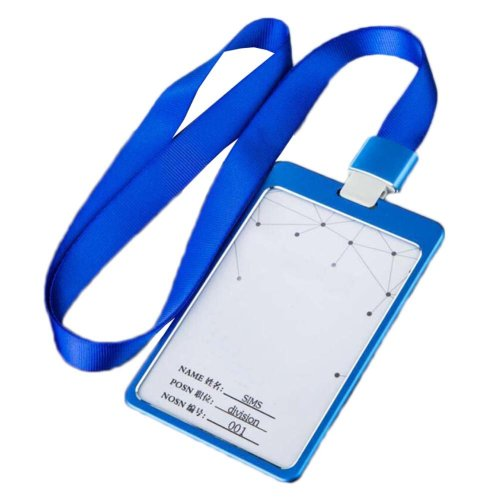 Aluminum Alloy Vertical Style ID Card Badge Holder with Neck Lanyard Strap 3PCS, 09