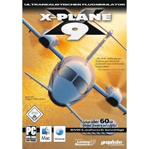 X-Plane 9 incl. Global Scenery (PC+MAC-DVD) [German Version]