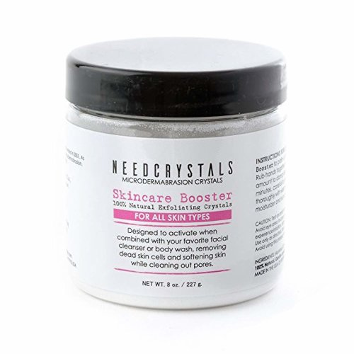NeedCrystals Microdermabrasion Crystals, DIY Face Scrub. Natural Facial Exfoliator for Dull or Dry Skin Improves Acne Scars, Blackheads, Pore Size,...